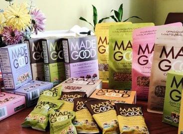 Allergénmentes granolás snack a MadeGoodtól