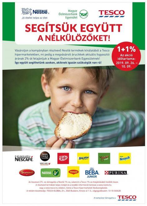 Nestlé, Tesco: 1+1, most sokkal több, mint 2