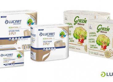 Recycled and recyclable paper packaging is a new development by Lucart