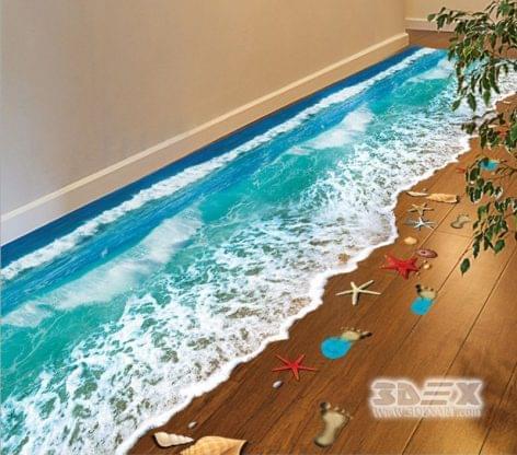 3D-s éttermi és szállodai padlómegoldások – A nap képe
