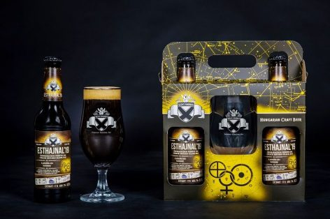 The Szent András Brewery is tuned for the holidays with peach black IPA beer