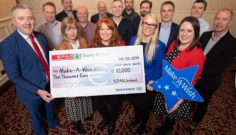 400 ezer eurót gyűjtene az ír Spar a Make-A-Wish-nek