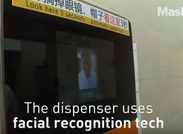 Facial recognition dispensers rationing the sheets – Video of the day