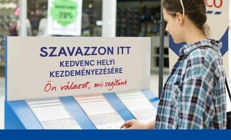 40 millió forintnyi támogatásról szavazhatnak a Tesco vásárlói