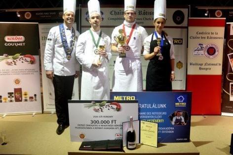 Lendvai Levente, az Arany Kaviár séfje lett a Jeunes Chefs Rôtisseurs Ifjúsági Szakács VB hazai döntőjének győztese