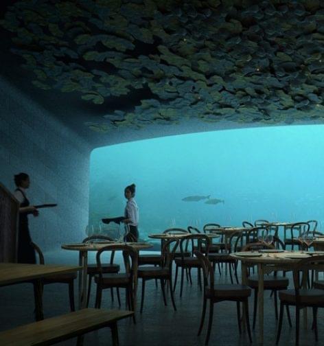 Európa első (félig) vízalatti étterme – A nap képe