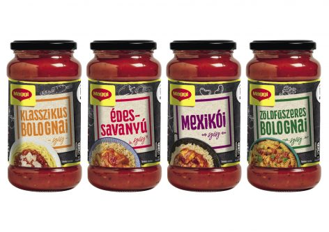 Maggi sauces in glass jars