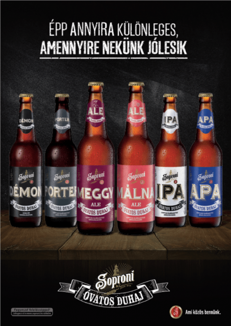 The latest Óvatos Duhaj has been released, this time Soproni is renewing with Raspberry Ale