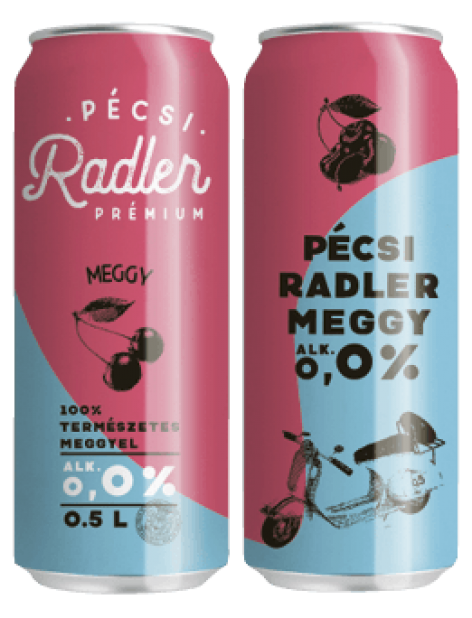 Új arculat a Pécsi Radler termékcsaládnál
