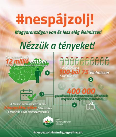 NAK: Ne spájzolj! Magyarországon van és lesz elég élelmiszer!