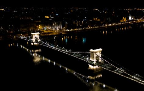 Budapest sends messages to major cities through illuminated windows of empty hotels