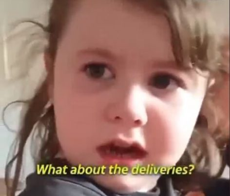 Little girl finds out she needs to eat meal her mother cooked – Video of the day