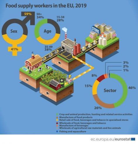 Ennyien dolgoznak jelenleg az élelmiszer-ellátásban Magyarországon