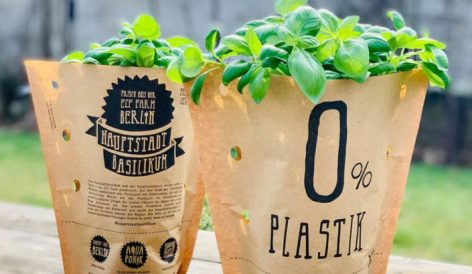 REWE Trials Recycled Paper Packaging For Herb Pots