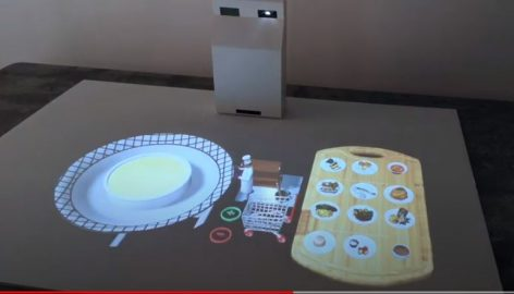 AR lamp projects the dishes of the menu – Video of the day