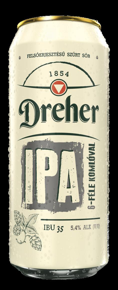 Megérkezett a Dreher IPA – Az új Dreher variáns lett a gyártó legkeserűbb világos söre