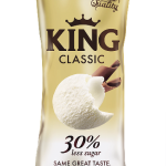 KING CLASSIC ice cream – with 30% less sugar