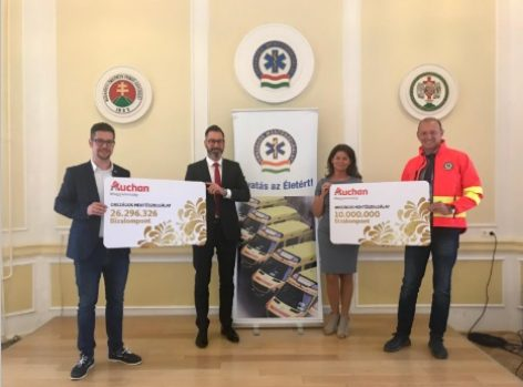 Auchan donated trust points to the National Ambulance Service