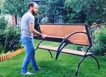Összecsukható teraszbútor – A nap videója