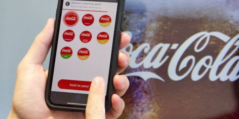 Contactless solutions by Coca-Cola Freestyle