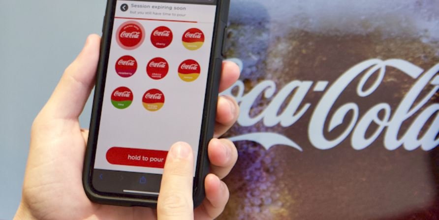Coca-Cola érintésmentes italadagolás