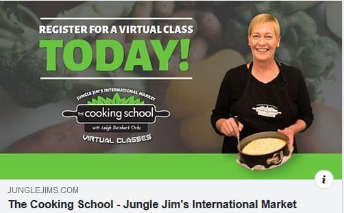 A Jungle Jim's áruház online főzőiskolája