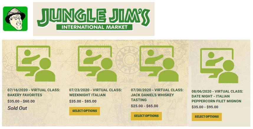 A Jungle Jim's online kurzusai