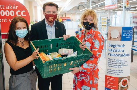 Nearly 15,000 kg of donations have already been raised in Tesco's extraordinary food donation fundraising campaign