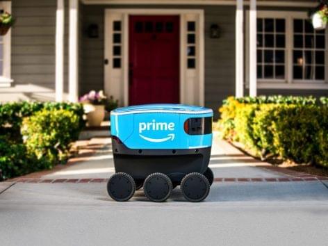 Amazon: házhozszállítás robottal