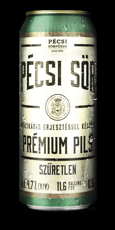 Pécsi Prémium Unfiltered Pils  0,5 l