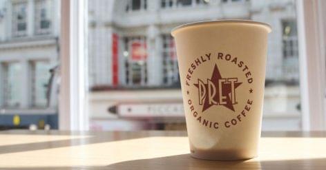 Kávéelőfizetés a Pret a Manger-től