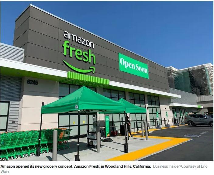 Amazon Fresh új bolt koncepció