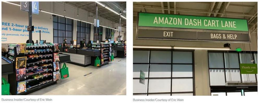 Amazon Fresh kassza