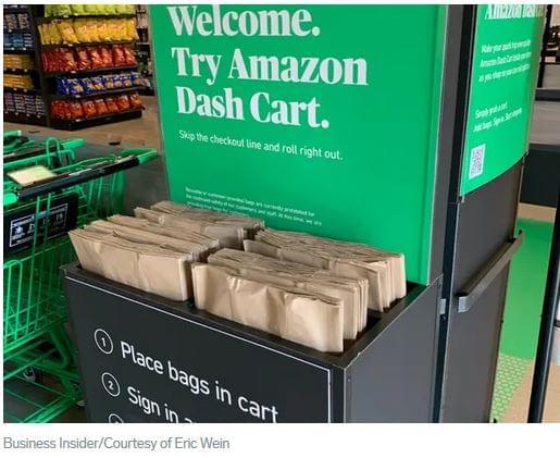 Amazon okos bevásárló kosár