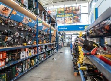 Praktiker rebuilt its Vác road store