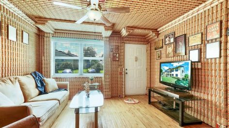 A condo covered in Budweiser cans – Picture of the day