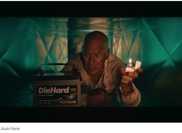 Bruce Willis a DieHard akkumulátor új reklámjában