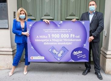 A Milka őszi kampányával a Magyar Vöröskereszt munkáját támogatja