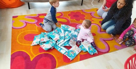 More than six thousand packages of diaper donations for SOS Children's Villages