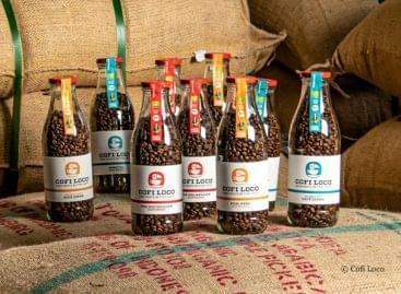 Kávé újrahasznosítható üvegben