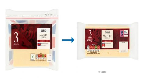 Tesco Changes Packaging Concepts for Cheese and Chicken
