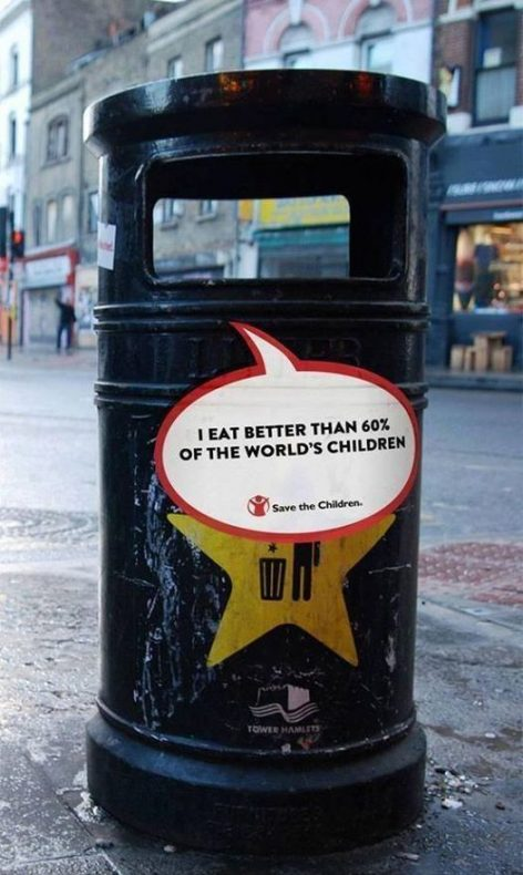 Sad message on the refuse bin – Picture of the day