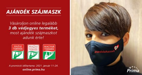 A Príma ajándék #veddahazait maszkkal kampányol