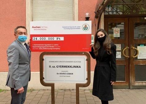 Auchan: A hódos kampány nagyértékű orvosi berendezéshez segíti a Semmelweis Egyetem gyermekgyógyászati klinikáját