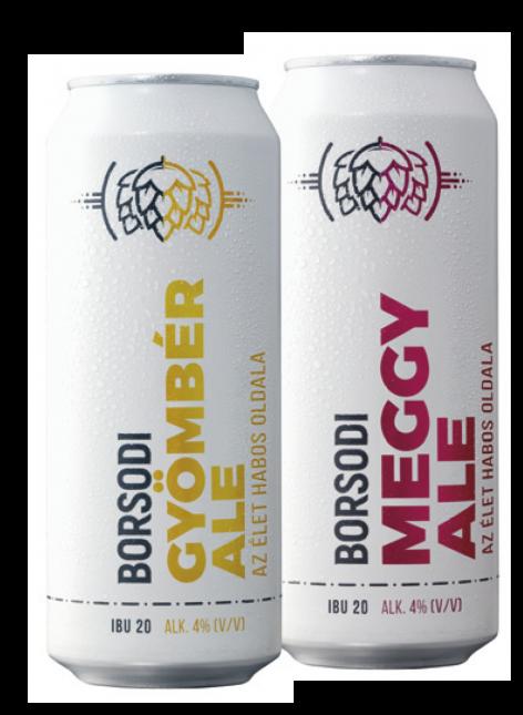 Borsodi Ginger Ale and Borsodi Cherry Ale