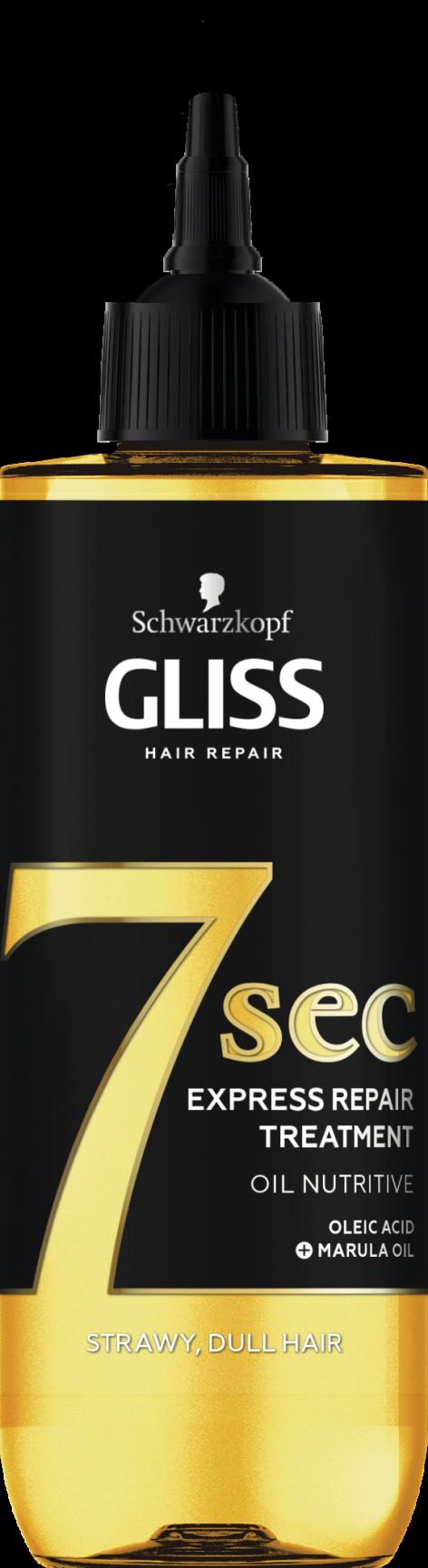 Gliss 7 sec hajpakolás (Elérhető variánsok:Tápláló Olaj, Color Perfector, Ultimate Repair)