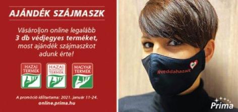A Príma ajándék#veddahazait maszkkal kampányolt