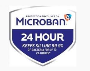 Microban 24 pajzs logó
