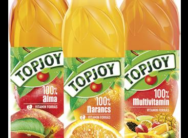 Topjoy 100%-os gyümölcslevek 0,3 l PET-palackban