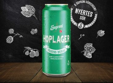 The winner of the 2nd Sopron Brewing Competition, the Óvatos Duhaj Hoplager has arrived